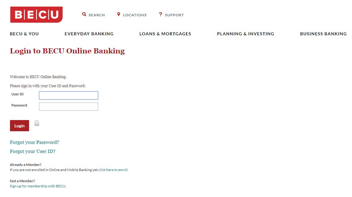 BECU Login to Online Banking - Credit Card payment