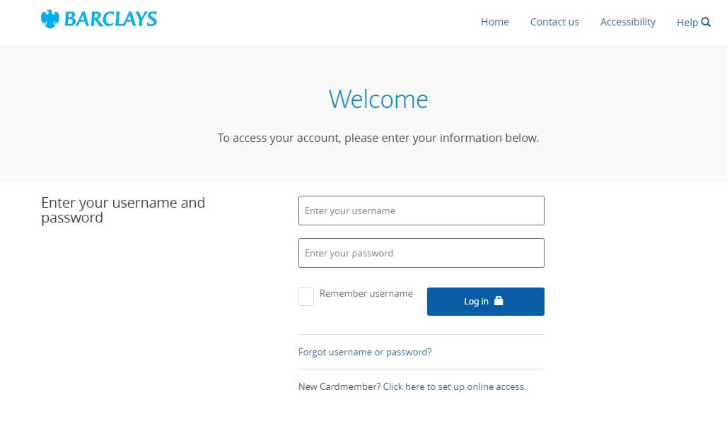 Barclaycard Login and Bill Payment