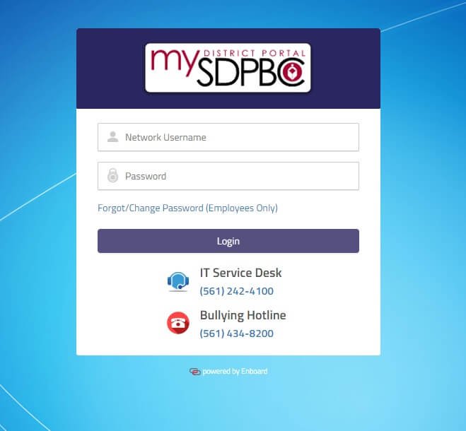 My District portal Login