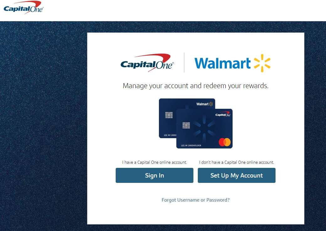 Walmart Credit card Login and Bill Payment