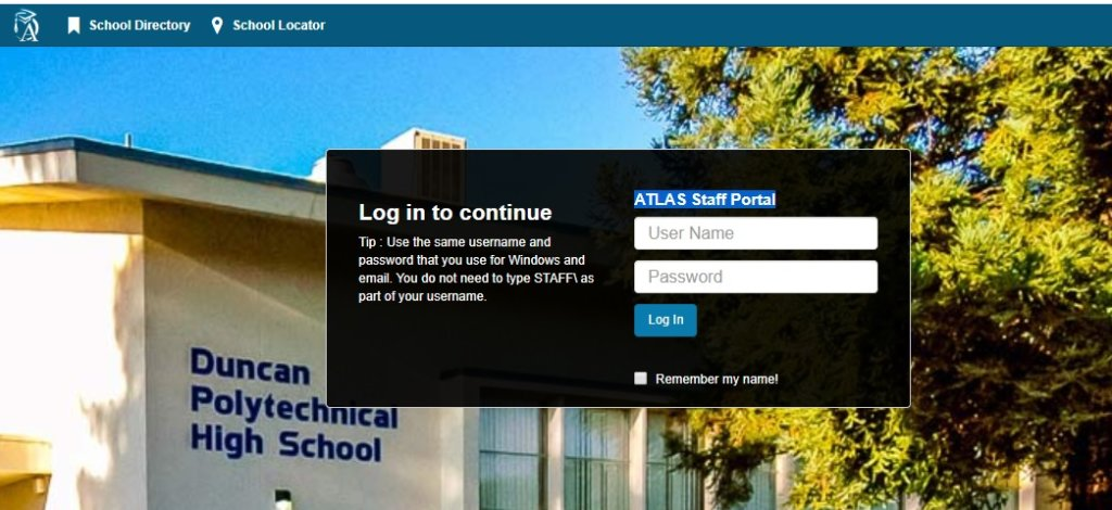 atlas fusd login to student parent and staff portal