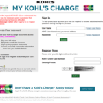 MyKohlsCharge Login - Make Payment at www.mykohlscharge.com