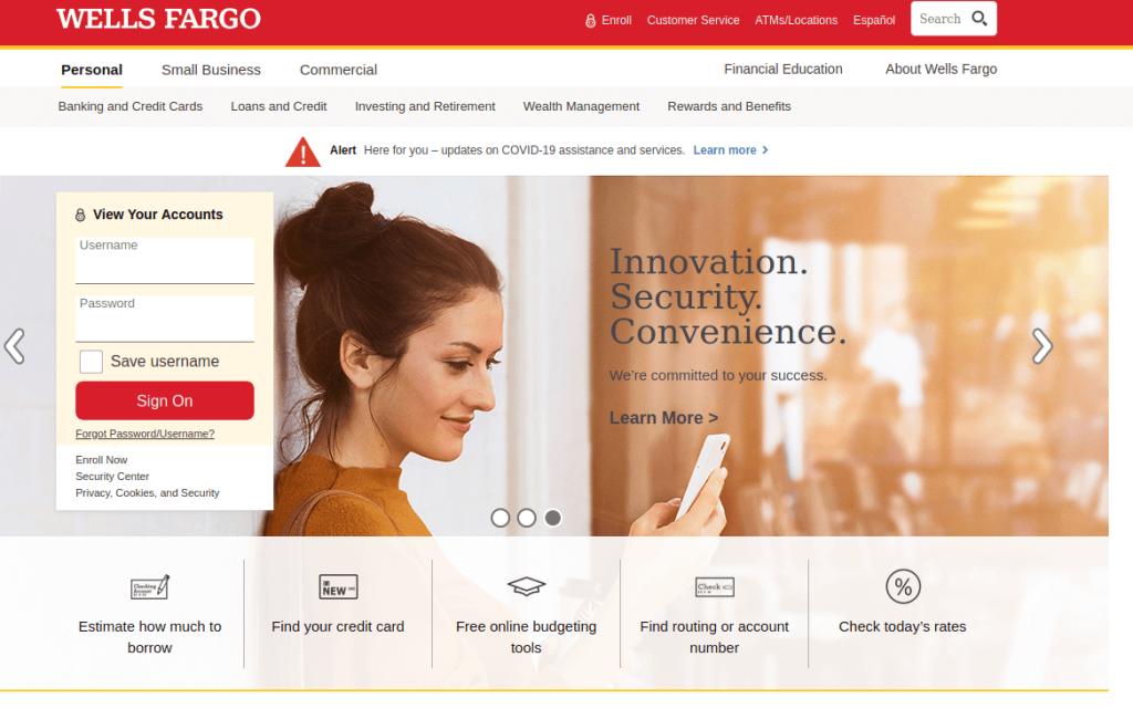 Wells Fargo Bank Login to Online banking