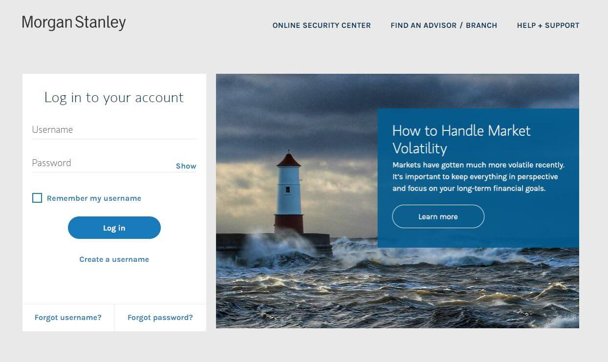 morgan stanley client service login