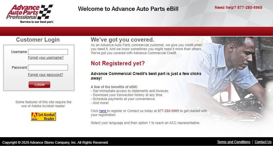 Advance Auto Parts Credit Card Login