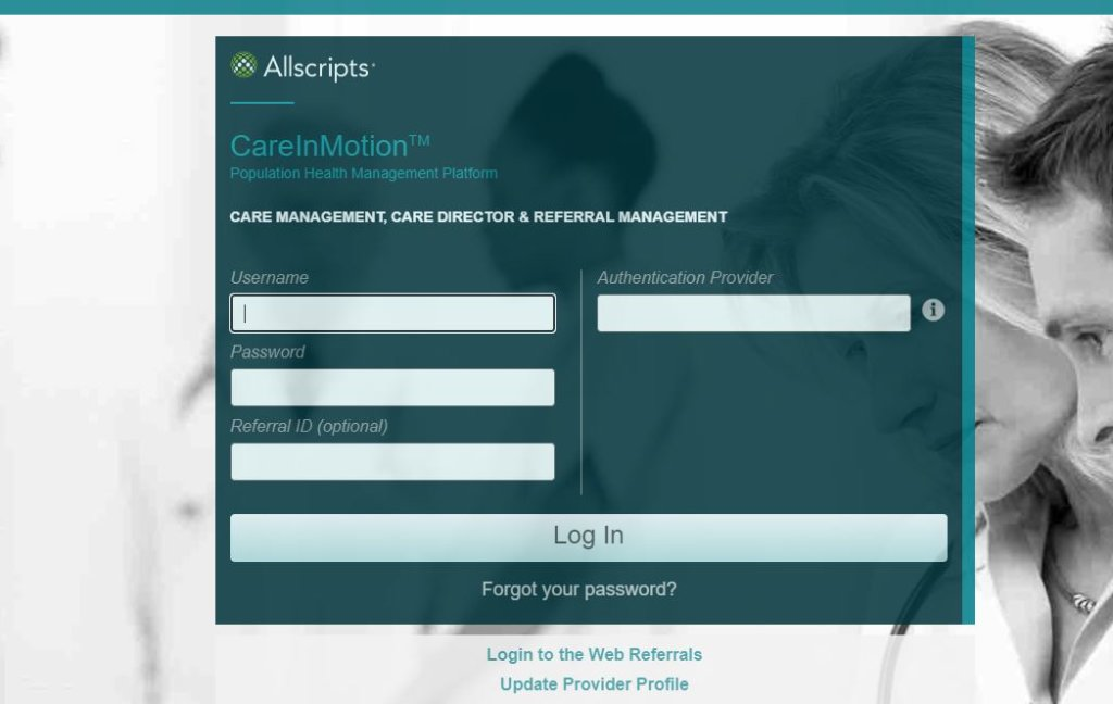Allscripts Care Management Login