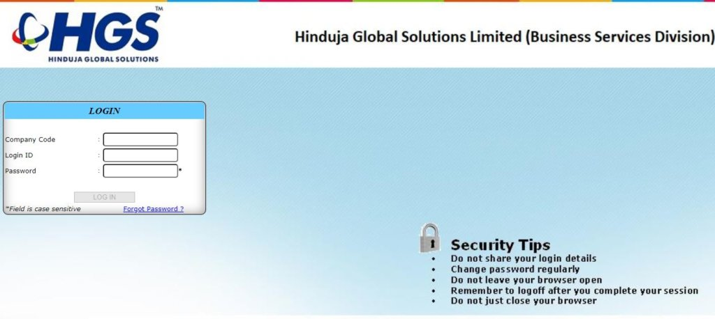 Firstsource Payslip - HGS Employee Portal Login