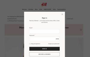 H&M Credit Card Application Login
