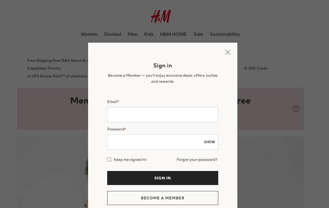 H&M Login