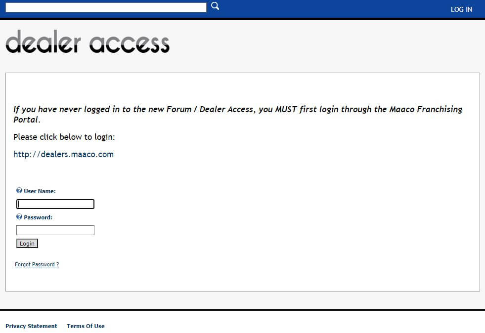 Intranet Maaco Login