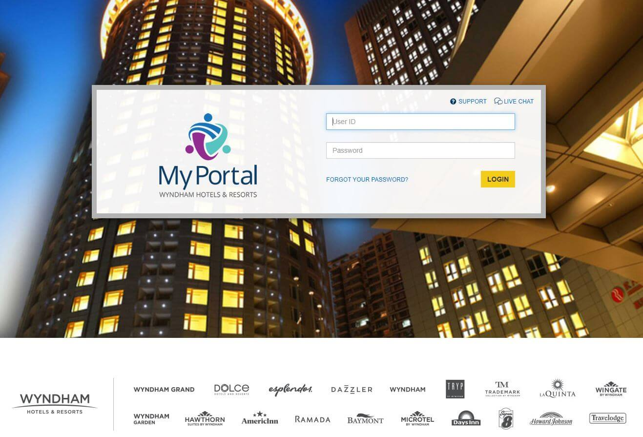 My Portal Wyndham Login