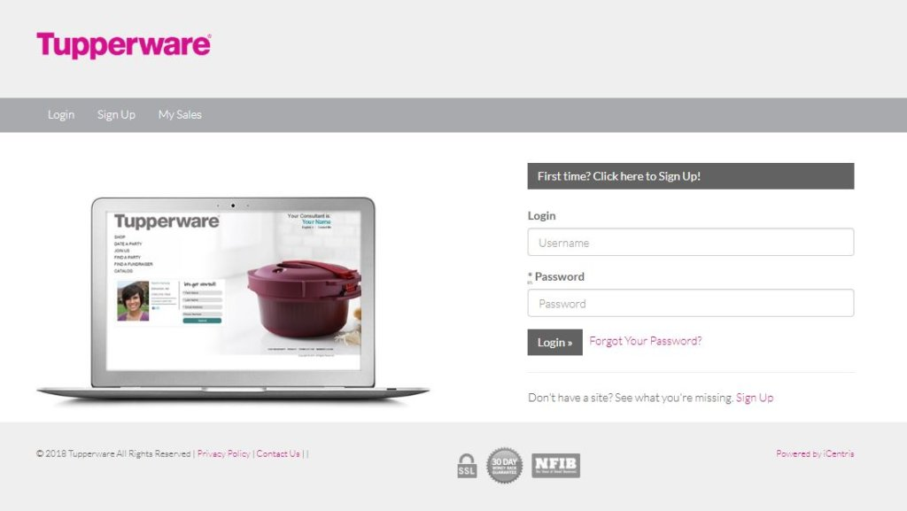 My tupperware com Login