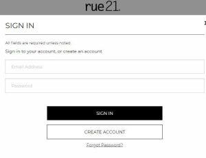 Rue21 Credit Card Application